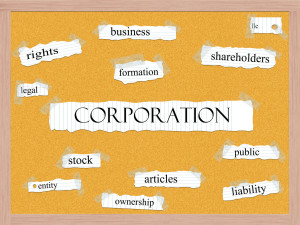 Corporation Corkboard Word Concept with great terms such as business, public, articles and more.